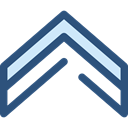 Arrows, Orientation, Direction, ui, Angle, Chevron, directional DarkSlateBlue icon