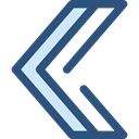 Arrows, Arrow, ui, Chevron, Arrow left, left arrow, arrowhead DarkSlateBlue icon