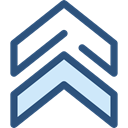 Direction, ui, Chevron, Military, up arrows, directional, Arrows, Orientation DarkSlateBlue icon