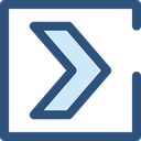 next, skip, ui, Chevron, right arrow, Pointing, Multimedia Option, Arrows DarkSlateBlue icon