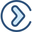 right arrow, Pointing, Multimedia Option, Arrows, next, skip, ui, Chevron DarkSlateBlue icon
