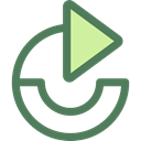 Direction, ui, Multimedia Option, Circular Arrow, Arrows, Redo, Orientation DimGray icon
