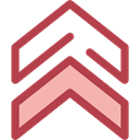 Orientation, Direction, ui, Chevron, Military, up arrows, directional, Arrows Sienna icon