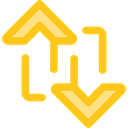 ui, Arrows, switch, Arrow, swap, vertical, sort, Orientation Gold icon