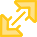 Arrows, Fullscreen, Orientation, interface, expand, Direction, ui, Multimedia Option Gold icon