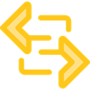 Arrows, switch, Arrow, swap, sort, Orientation, ui Gold icon
