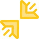 Multimedia Option, Diagonal Arrows, Arrows, Orientation, Compress, Direction, ui Gold icon