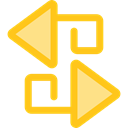 Arrow, swap, vertical, sort, Orientation, ui, Arrows, switch Gold icon