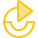 Arrows, Redo, Orientation, Direction, ui, Multimedia Option, Circular Arrow Gold icon