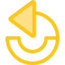 ui, Multimedia Option, Circular Arrow, Arrows, Undo, Orientation, Direction Gold icon