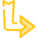 Multimedia, Arrows, Multimedia Option, Diagonal Arrow, Orientation, ui, Diagonal, directional Black icon
