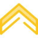 directional, Arrows, Orientation, Direction, ui, Angle, Chevron Gold icon