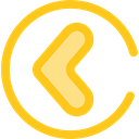 arrowhead, ui, Chevron, Arrow left, left arrow, Arrows, Arrow Gold icon