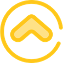 Arrows, Orientation, Direction, ui, Angle, Chevron, directional Gold icon