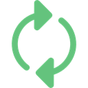 Arrows, Reload, refresh, Orientation, interface, Direction, Multimedia Option, Circular Arrow Black icon