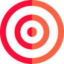 Aim, Target, shooting, sniper, weapons, Dart Board Tomato icon