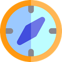 Direction, Tools And Utensils, Cardinal Points, compass, Orientation, location PaleTurquoise icon