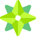 wind rose, Cardinal Points, Orientation, Direction GreenYellow icon