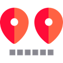 placeholder, Distance, Route, signs, map pointer, Map Location, Map Point, Gps, pin, position Black icon