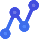 Stats, statistics, graphic, Ascending, Arrow, graph, Business RoyalBlue icon