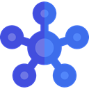 network, Connection, Business, interface, Circles, networking, scheme RoyalBlue icon