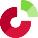 Business, Stats, statistics, marketing, Pie chart, finances, graphical Crimson icon
