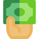 payment method, Hand, Business, Bill, Money, Cash, pay, banking YellowGreen icon
