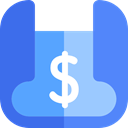 Business, Money, Dollar, Currency, Blueprint, Bank CornflowerBlue icon