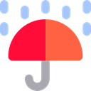 Umbrella, weather, Protection, Rain, rainy, Umbrellas Black icon