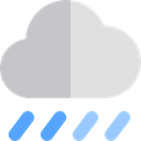 Storm, sky, rainy, meteorology, weather, Rain Silver icon