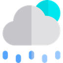 weather, Rain, Storm, sky, rainy, meteorology Silver icon
