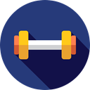 dumbbell, weights, Dumbbells, Tools And Utensils, weight, sports, gym, Sports And Competition MidnightBlue icon