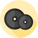 weight, sports, gym, dumbbell, weights, Dumbbells, Tools And Utensils, Sports And Competition Moccasin icon