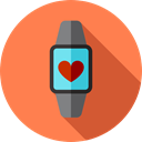 wristwatch, smartwatch, Time And Date, watch, Coding, technology, electronics Coral icon