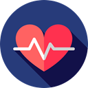 Heart, medical, pulse, heart rate, Electrocardiogram, Cardiogram, Healthcare And Medical Icon