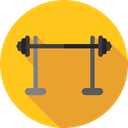 weighing, Sportive, Sports And Competition, sports, fitness, gym, Barbell, weightlifting, exercise Gold icon