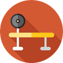 sport, sports, exercise, Sports And Competition, fitness, gym, weightlifting, Bench Chocolate icon