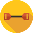 sports, chest, fitness, gym, exercise, gymnasium, expander, Sportive, Sports And Competition, Chest Expander Gold icon