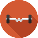 weight, sports, gym, dumbbell, weights, Dumbbells, Tools And Utensils, Sports And Competition Chocolate icon