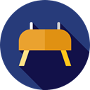 athletic, gymnasium, Vaulting Horse, Sports And Competition, sport, sports, Gymnastics, Buck DarkSlateBlue icon