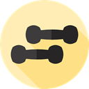 dumbbell, Dumbbells, Sportive, Sports And Competition, weight, sports, gym Moccasin icon