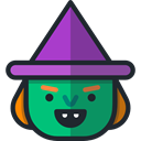 witch, spooky, scary, fear, Avatar, halloween, horror, Terror DarkSlateGray icon