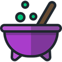 pot, Cauldron, food, Cook, halloween DarkOrchid icon