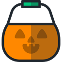 Basket, halloween, pumpkin, horror, Terror, childhood, scary, Candies DarkOrange icon