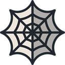 web, interface, halloween, cobweb, Spider Web DarkSlateGray icon