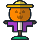Character, halloween, rural, Farming, scarecrow, Farming And Gardening DarkSlateGray icon