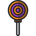 sweet, Lollipop, Food And Restaurant, food, sugar, Dessert Black icon