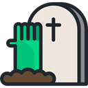 Cemetery, Rip, tomb, tombstone, death, halloween, zombie, Stone AntiqueWhite icon
