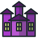 halloween, Fun, spooky, haunted house, Amusement Park DarkSlateGray icon