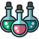 education, flask, legend, Folklore, Fairy Tale, halloween, Fantasy, potion, Potions DarkSlateGray icon